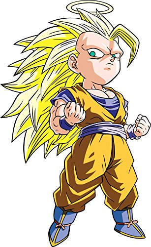 Stickersnews - Sticker enfant Manga Dragon Ball Z DBZ 9522 Hauteur - Hauteur 20cm