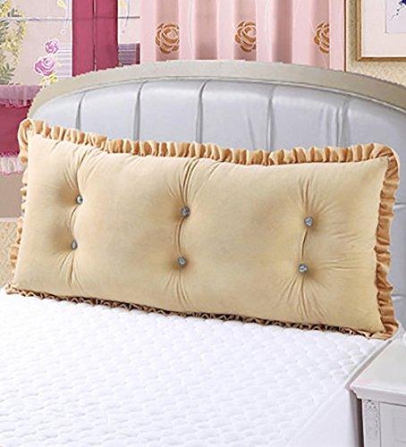 Xufei cuscini in cotone di grandi dimensioni letto matrimoniale cuscino per schienale (color : yellow, size : 1.2m)