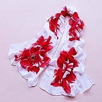 YsTmS Frauen Schal Schal Weibliche Chiffon Schals Blumen Wraps Strand Vertuschung Pareo Hijab 160 * 50 cm