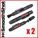 2 x 2 IN 1 LENS CLEANING CLEANER DUSTER PEN FOR DSLR CAMERA CANON NIKON SONY OLYMPUS FUJI PANASONIC LENS CLEANER