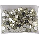AM Round Silver Kundan Stones for Jewellery Decoration and Crafts, 6mm (Pack of 400)