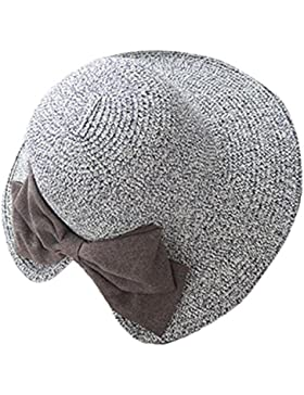 itemer Womens Ladies paja verano sombrero de playa viajes con lazo Roll Up sol visera sombrero ala ancha 56–...