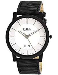 RELISH RE-S8015BW SLIM White Dial Analog Watch For Mens & Boys