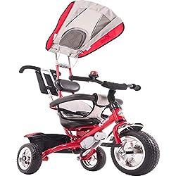 Kiddo Smart Design Tricycle 4 en 1 pour Enfant 3 Roues Rouge Taille Unique