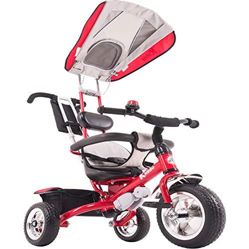Kiddo Smart Design Tricycle 4 en 1 pour Enfant 3 Roues Rouge...