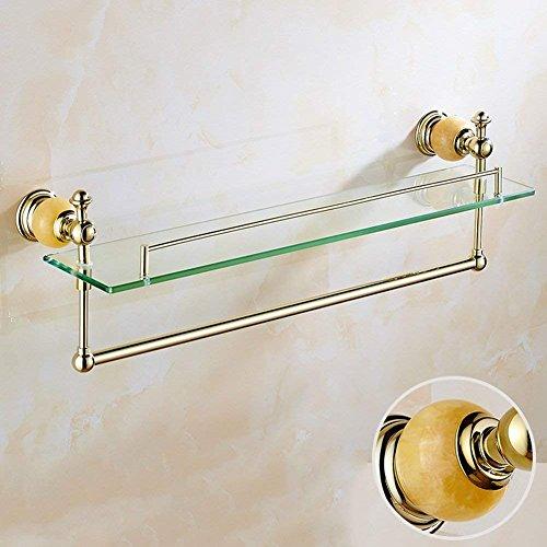 Badezimmer Regal Dusche Wand montiert Schminktisch Washroom Tower Kleiderbügel Marmor Glas, 615* 200mm Handtuch steht Ringe (Farbe: Marmor Modelle) (Dusche Eck-regal Aus Marmor)