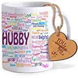 Tied Ribbons Valentine Gifts Coffee Mug(325Ml) With Heart Shaped Wooden Engraved Tag