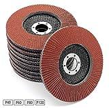 20 Fächerscheiben MIXPACK I 125 mm I Gemischte Körnung je 5x 40 I 60 I 80 I 120 I Standard Fächerschleifscheibe Schleifmopteller Sparpack