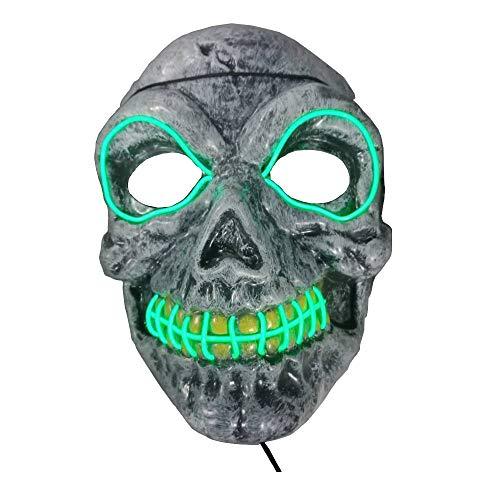 ED Masken leuchten Scary Mask leuchten Cosplay Maske ()