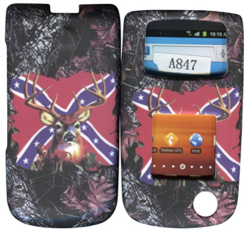 Camo Rebal Flag Stem Samsung SGH Rugby II 2 A847 att Case Cover Hard Phone Case Snap-on Cover Rubberized Touch Faceplates