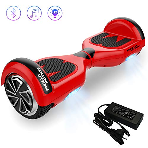 Hoverboard Self Balancing Scooter [Mega Motion E1] - 6.5 inch Segway- Electric Skateboard - 700W Motor - [Built-in Bluetooth Speaker] - LED - Self Balanced Electric Scooter with CE Safety System