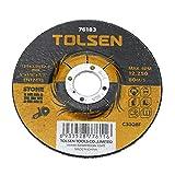 Tolsen PN18081610040174355 Disco de cortar de amoladora para piedra 125 x 3 x 22.2 mm