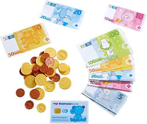 HABA 304131 - HABA-Kaufladen-Spielgeld, Kaufladenzubehör mit Geldscheinen aus robustem Papier,...