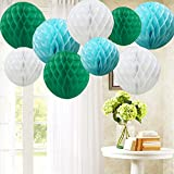Time to Sparkle TtS 9 Pack Mixed Honeycomb Balls Table Centrepiece Garland Tissue Paper Wedding Party Decoration(Blue)