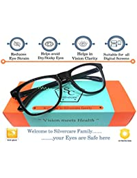 SILVERCARE Blue Ray Cut UV420 unisex Wayfarer Spectacle for protection from digital screens