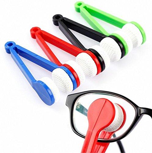 WYXIN 5 Stücke Mini Brille Mikrofaser Brille Reiniger Weichen Pinsel Reinigungswerkzeug Mini Mikrofaser Brillen Brillen Reiniger Reinigungs Clip (Gelegentliche Farbe)