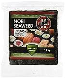 Produkt-Bild: ITA-SAN Seetang, geröstet, für Sushi, halbes 100 Blatt, nori grün, 2er Pack (2 x 125 g)