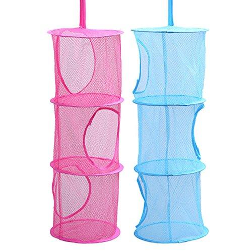 Uooom Hängeregal Aufbewahrungsbox 3Etagen faltbar Kinder Spielzeug Organizer Tasche Netz Wäsche...