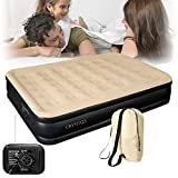 Denny Shop Inflatable High Raised Air Bed Mattress With Built in Electric Pump