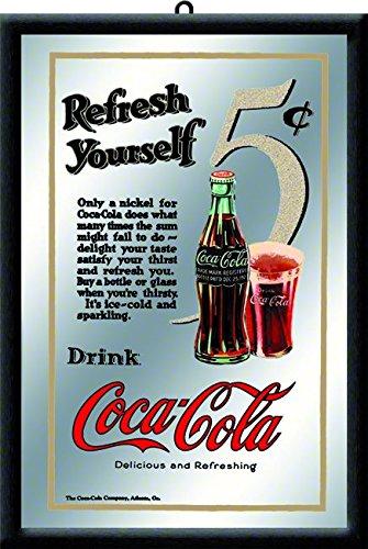 Nostalgic-Art 80717 Bier und Spirituosen Coca-Cola 5 Cent, Spiegel, 20 x 30 cm