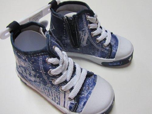 MaxiMo Babyschuh, Lauflernschuh, Kinderschuh, knöchelhoch, auch seitlicher Reißverschluss, steingrau/navy, Gr. 24