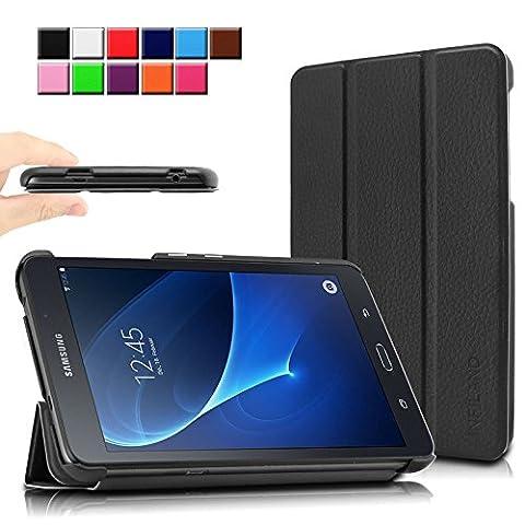 Infiland Samsung Galaxy Tab A 7.0 Hülle Case-Ultra Dünn Tri-Fold Muschel PU Leder Ultra Schlank Superleicht Ständer Shell Cover Schutzhülle Etui Tasche für Samsung Galaxy Tab A 7.0 17,8 cm SM-T280 (7