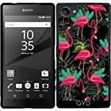 Coque Silicone pour Sony Xperia Z5 Compact - Flamants Roses Oiseaux Exotiques 2 by BluedarkArt