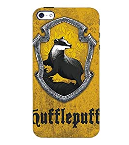 PrintDhaba Animal Design D-5121 Back Case Cover for APPLE IPHONE 4 (Multi-Coloured)