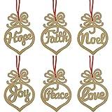 TUPARKA 12 piezas Adornos de madera Decoraciones navideñas Suministros de artesanía navideña Decoraciones para árboles de Navidad Adornos de madera Árbol de Navidad Colgante Colgante Etiquetas de regalo
