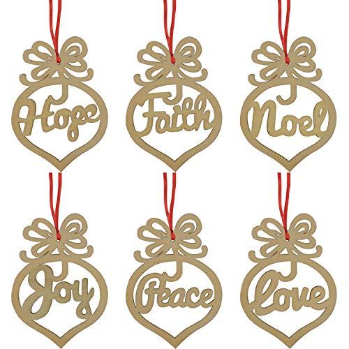 f083569ff0 TUPARKA 12 Pz Decorazioni in Legno Decorazioni Natalizie Articoli  Artigianali Natalizi Decorazioni per Alberi di Natale