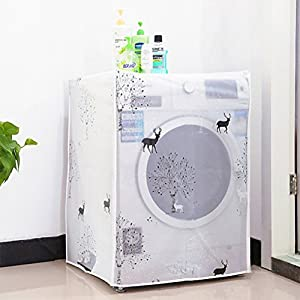 WINOMO Waterproof Washing Machine Cover Automatic Roller Drum Household Washer Cover (Dear Patterns) from WINOMO