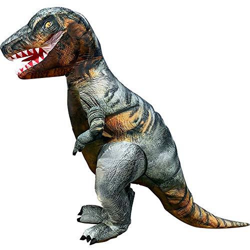HBRT Aufblasbares Kostüm Dinosaurier Kleidung, Weihnachten Halloween-Abendkleid Cosplay Outfit Adult Karnevals-Spaß-Maskerade Dresse