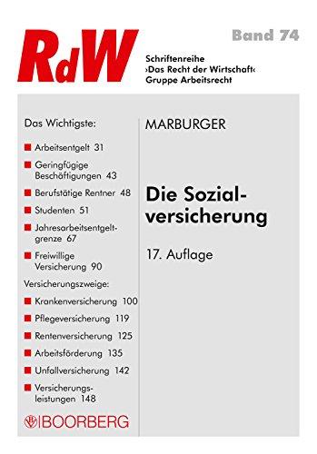 Die Sozialversicherung (RdW 74)