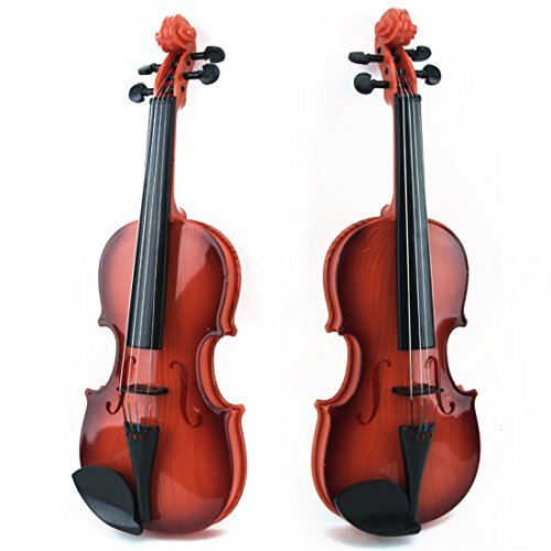 Geige Kinder, Foxom Kinder Geige Spielzeug Plastik Violine Musikinstrument Geschenk für Kinder Junge Mädchen ab 3 Jahre (TYP-1)