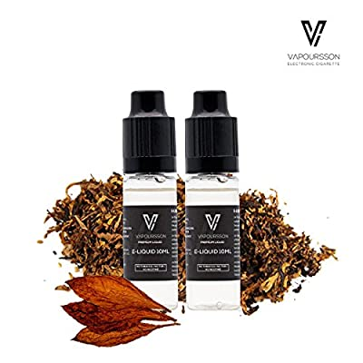 VAPOURSSON 2 X 10ml E Liquid | Classic Tobacco | 2 Pack New Formula To Create A Super Strong Flavour with Only High Grade Ingredients | Made For Electronic Cigarette and E Shisha | Eliquid from Vapoursson
