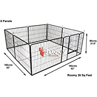 BUNNY BUSINESS Jaula Resistente para Cachorro, Ejercicio, Juegos, 160 x 160 x 80cm, 8Piezas