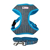 CricTeQleap Let's Go!! Haustier Hund Welpen Einstellbare Striped Racerback Harness Weste + Laufband...