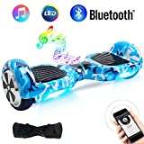 BEBK Overboard, 6,5 Pouces Hoverboard Bluetooth Self Balance Scooter, 2 × 250W Smart Gyropode, Électrique Auto-Équilibrage Enfant Adulte LED Skateboard