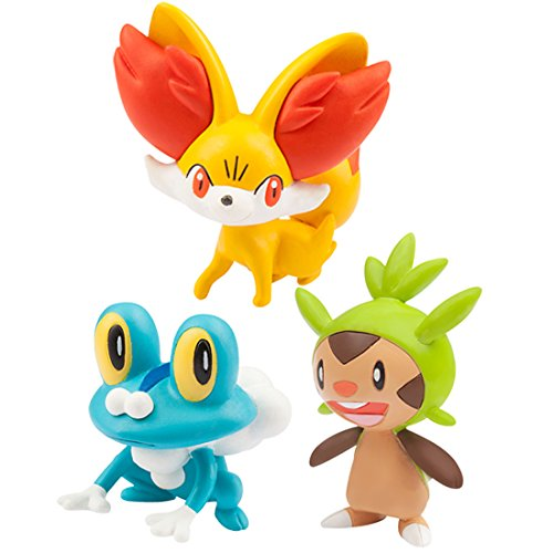 Pokemon Monster Collection EX 20th Anniversary 3 Pokemon of the Journey Vol.6 Kalos Region Chespin (Igamaro), Fennekin (Fynx), Froakie (Froxy) (Spielzeug Pokemon Fennekin)