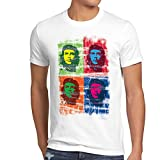 style3 Che Guevara Rivoluzione T-Shirt da Uomo Cuba, Dimensione:L;Colore:Bianco