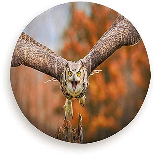 Olive Croft 15inch Simpatici Animali Nuvole Personaggi dei boschi Fauna Selvatica Segni Adorabili Simboli Ruota di scorta Copertura della Gomma Impermeabile Antipolv