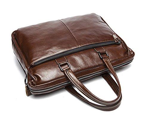 Xinmaoyuan uomini borsette Borsa Tempo libero a grande capacità borsa messenger in pelle genuina uomini borsetta,caffè Il caffè