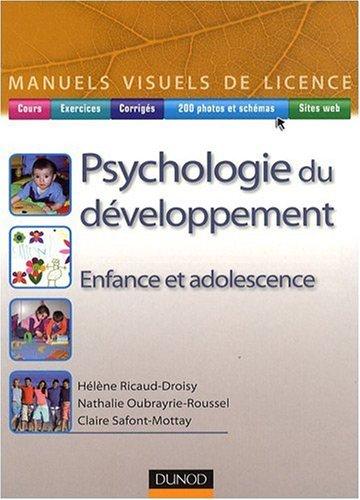 Psychologie du développement : Enfance et adolescence par Hélène Ricaud-Droisy