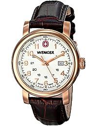 Wenger 011021108 - Reloj de pulsera mujer, piel, color marrón