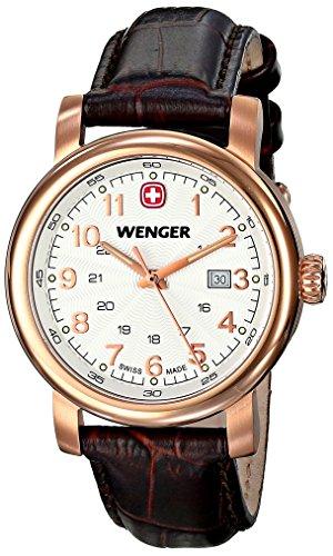 Wenger 011021108 Montre bracelet Femme, Cuir, couleur: marron