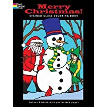 Merry Christmas! Stained Glass Coloring Book (Dover Coloring Books)