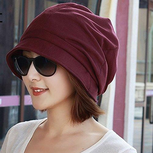 ,Herbst und Winter pot hat Baumwolle hat Travel cap Kappen für die Fischer hat Frauen hat Glatze, 56-58 cm, beige (Glatze Hats)