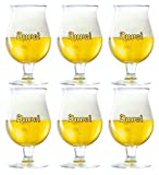 Duvel Beer Chalice Glasses (Set of 6) + 6 Duvel Beer Mats