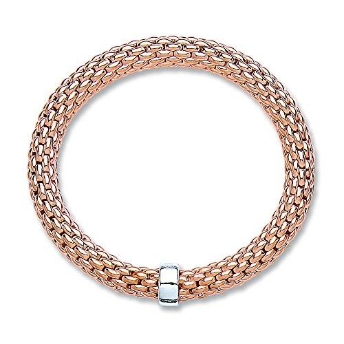 jareeya–Sterling Silber Rose Gold beschichtet Popcorn Damen Armband 15,8g - Beschichtete Popcorn