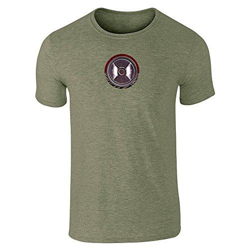 Pop Threads -  T-shirt - Uomo Heather Military Green